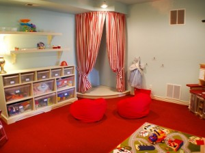 Corner Stage in Childrens Space