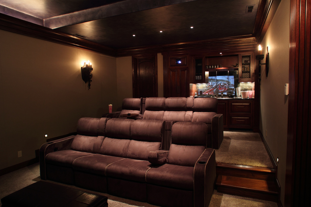 Basements atlantic building company for Basement theater room